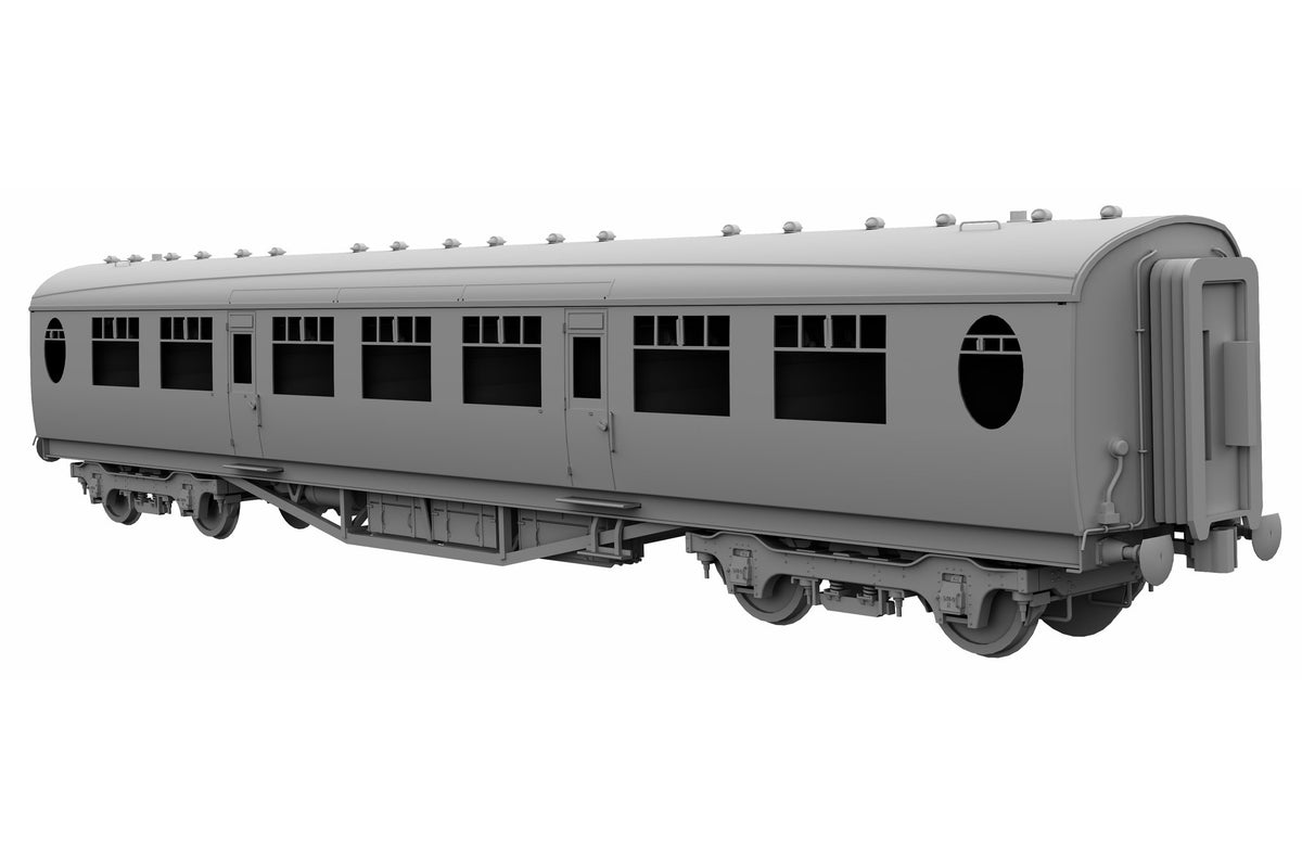 Darstaed D24-3-01A Finescale O Gauge LNER/BR Thompson Mainline TK (Third Class) Coach, Lined Maroon 'E1439E' (Pre-order)