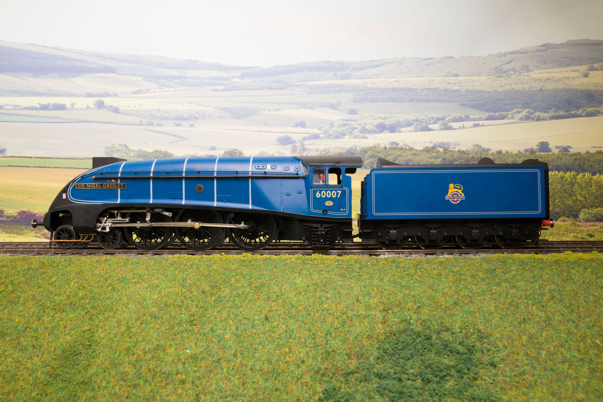 "Hattons/Heljan O Gauge H7-A4-006 BR Express Blue A4 'Sir Nigel Gresley' '60007' ""Record Breaker"", DCC Fitted"