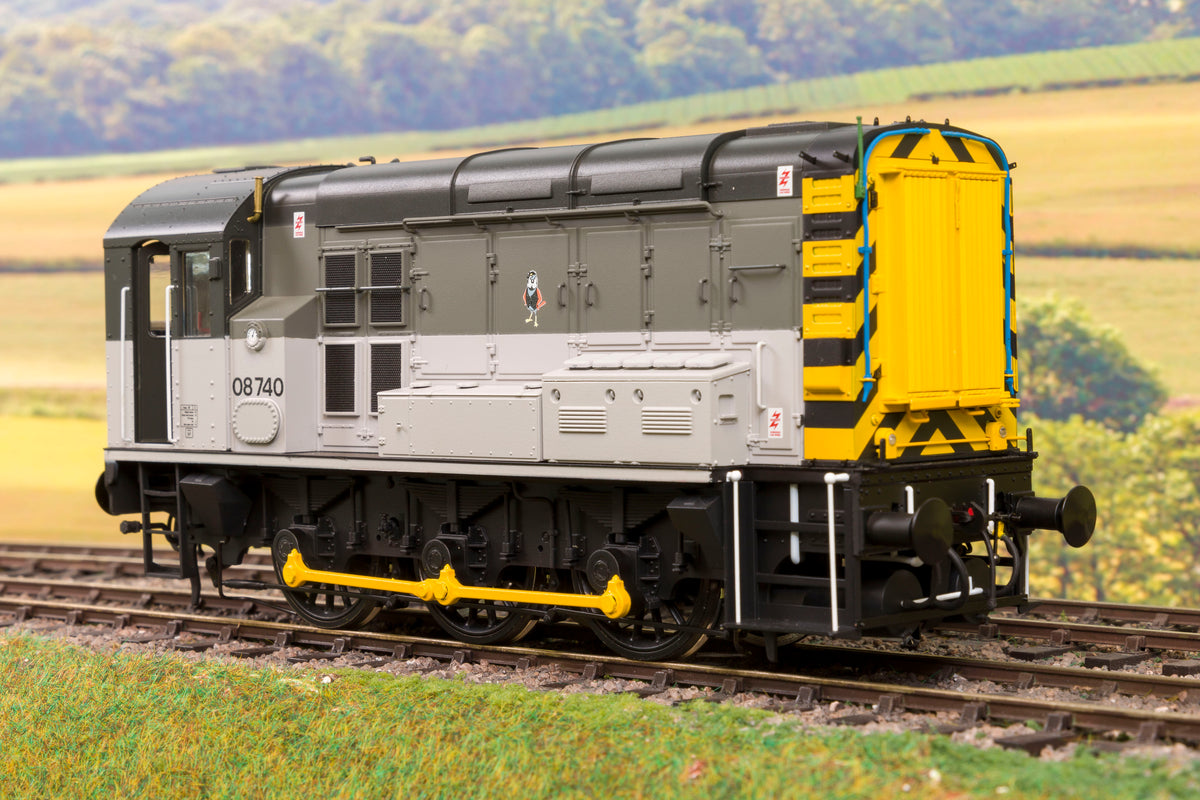Dapol 7D-008-015 O Gauge Railfreight Triple Grey Class 08 Diesel Shunter, '08740'