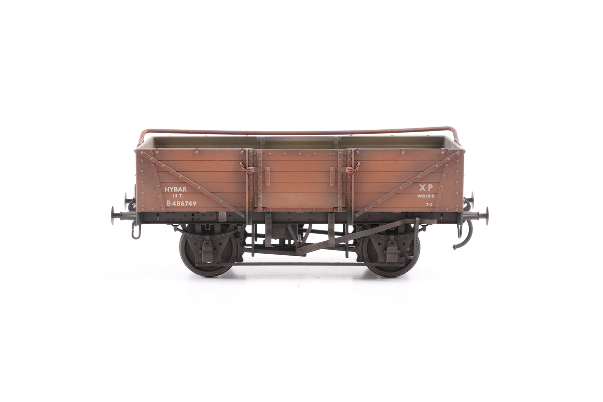 Scale 7 Rake of 4 BR Open Wagons, Weathered