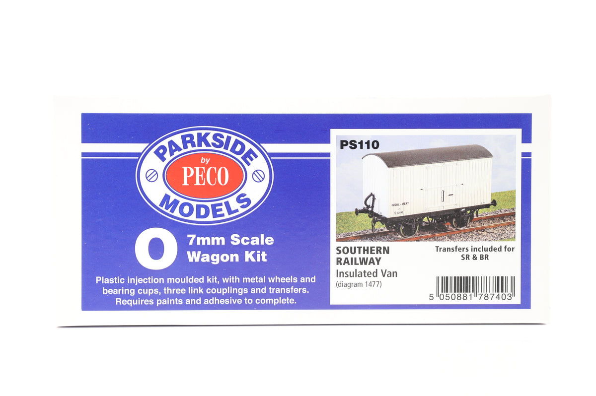 Parkside Dundas O Gauge PS110 Southern Railway Insulated Van Wagon Kit w/Wheels