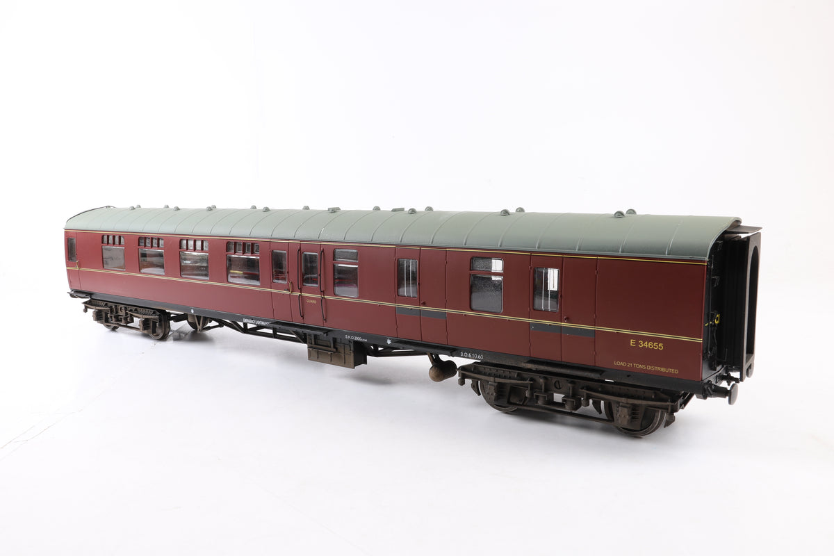 Accucraft/G1MC 1:32 Gauge 1 BR Mk1 BSK 'E34665', Lined Maroon with Passengers