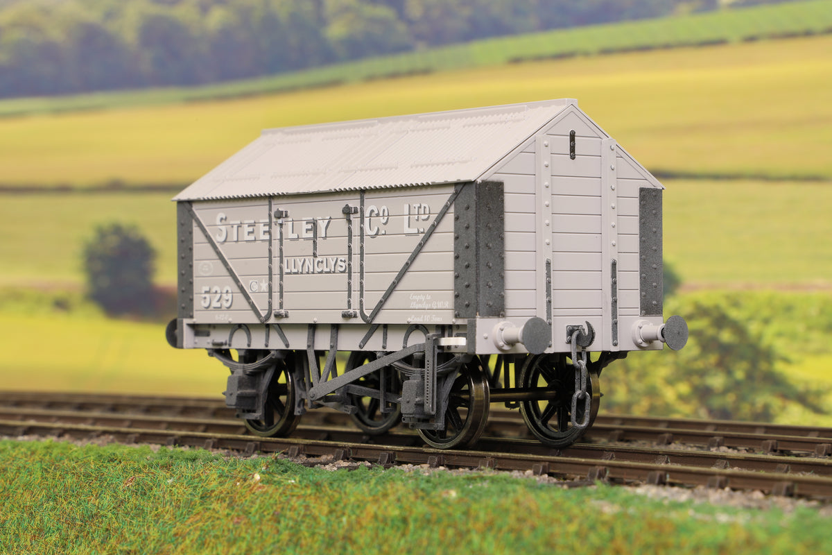 "Dapol 7F-017-002W O Gauge Lime Van Steetley Co. Lynclys Weathered ""529"""