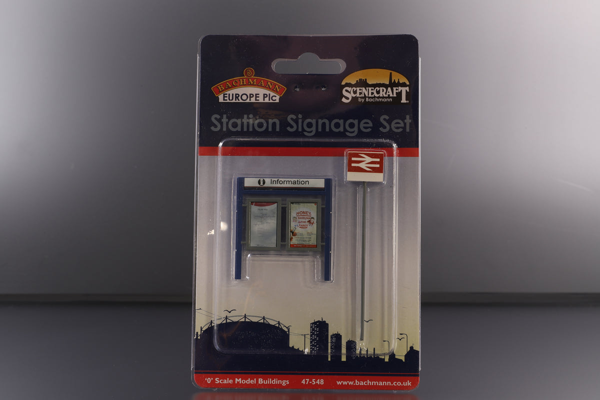 Bachmann O Gauge 47-548 Station Signage Set