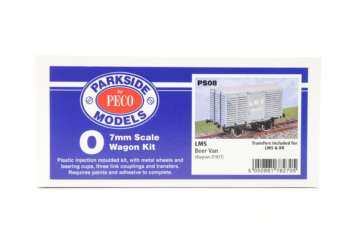 Parkside Dundas O Gauge PS08 LMS Beer Van Wagon Kit w/Wheels