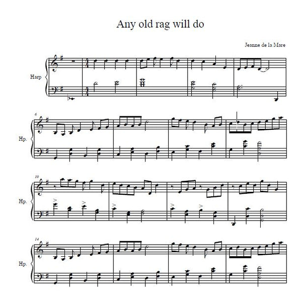 Any Old Rag Will Do - Digital Download