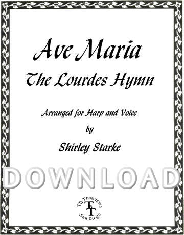 Ave Maria (Lourdes Hymn - Key of G) - Digital Download