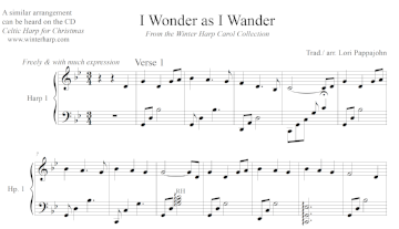 I Wonder As I Wander (Solo) - Digital Download