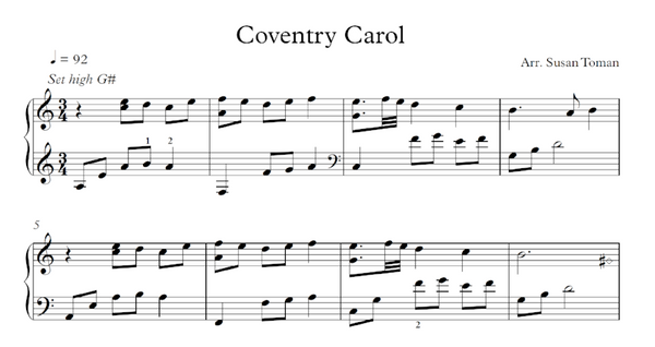 Coventry Carol - Digital Download