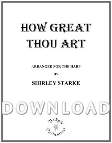 How Great Thou Art (Solo Harp) - Digital Download
