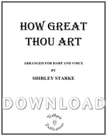 How Great Thou Art (Harp and Voice) - Digital Download