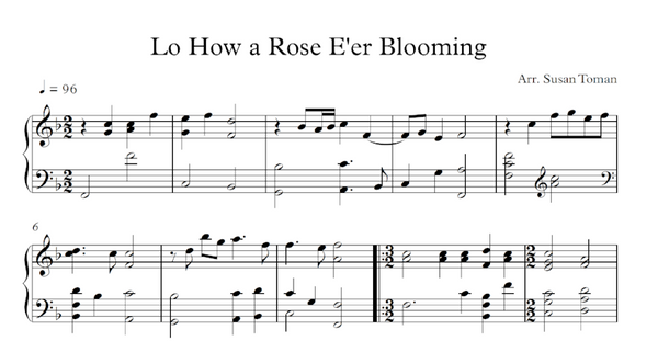 Lo How A Rose E'er Blooming - Digital Download