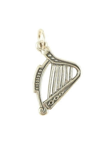 Harp Charm - Sterling Silver