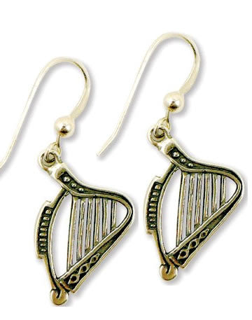 Harp Earrings - Sterling Silver