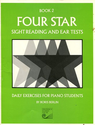 Four Star Sight Reading and Ear Tests:  Book 2