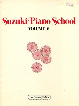 Suzuki Piano School:  Volume 6 (older version)