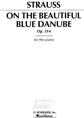 Strauss: On the Beautiful Blue Danbue, Op.314