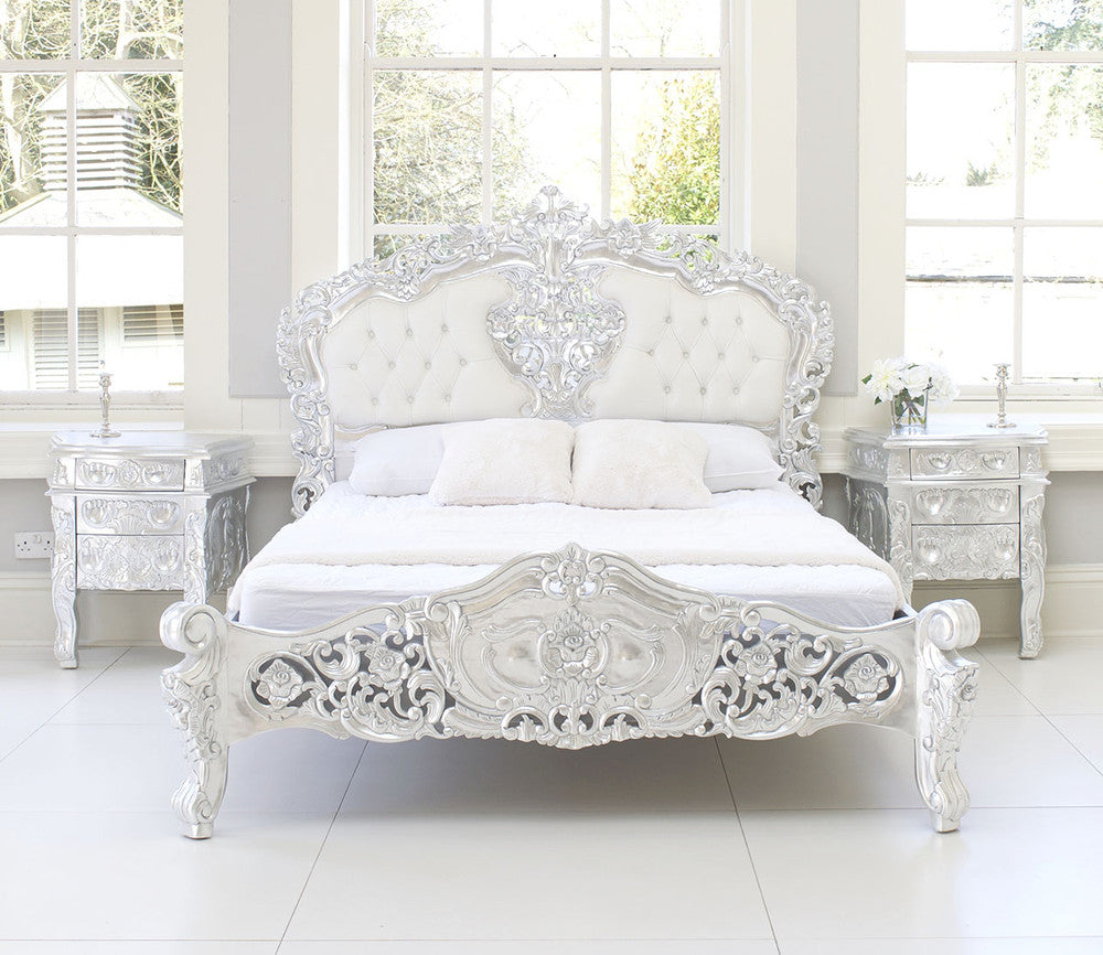 FRENCH BEDS   French Style Beds   Rococo Bed. French rococo furniture  French bedroom furniture  Shabby chic