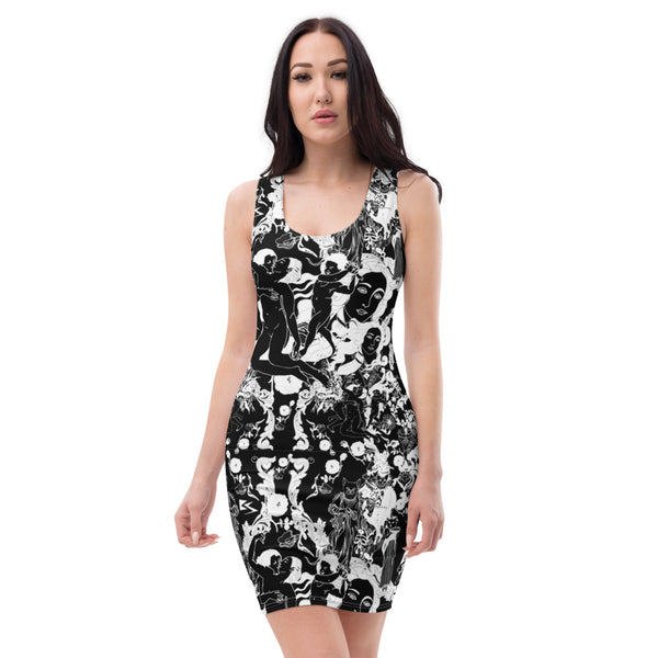 Belle Sauvage New Romantics Bodycon Dress