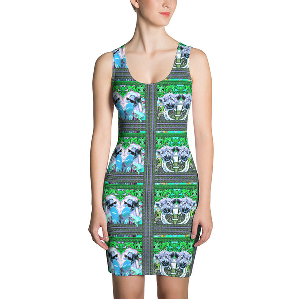 Belle Sauvage NEON Romance Bodycon Dress