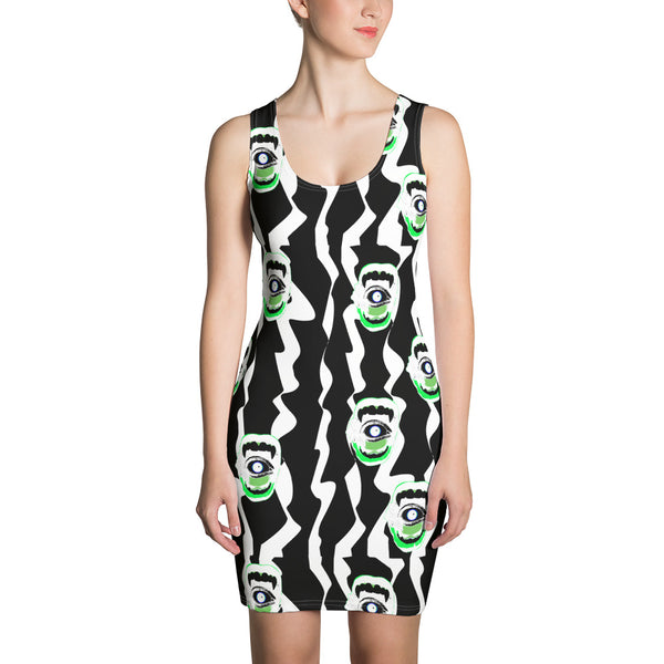 Belle Sauvage Green Slushi Bodycon Dress