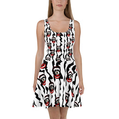 Belle Sauvage Red Slushi Skater Dress