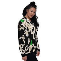 Belle Sauvage Green Chains Unisex Bomber Jacket