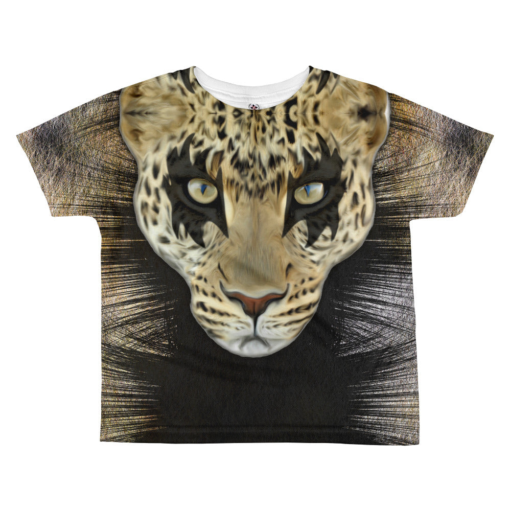 Leopard Fur All-over kids fashion T-shirt by Belle Sauvage