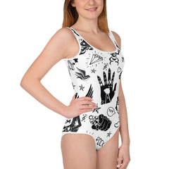 Tattoos All-Over Print Youth Swimsuit by Belle Sauvage