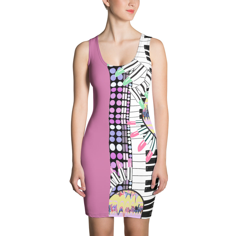 Keyboard Bodycon Dress