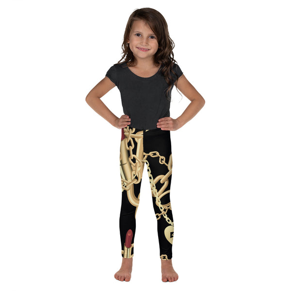 Belle Sauvage Lipsticks & Chains Kid's Leggings