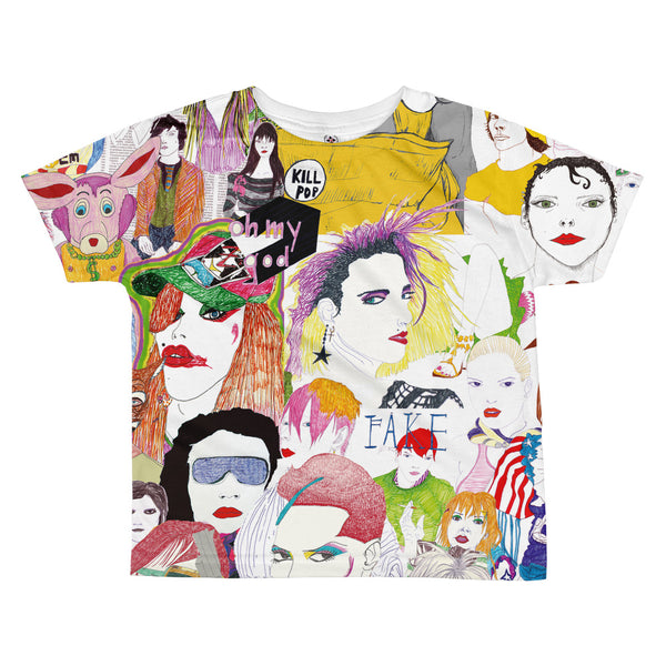 Pop Friends All-over kids sublimation T-shirt