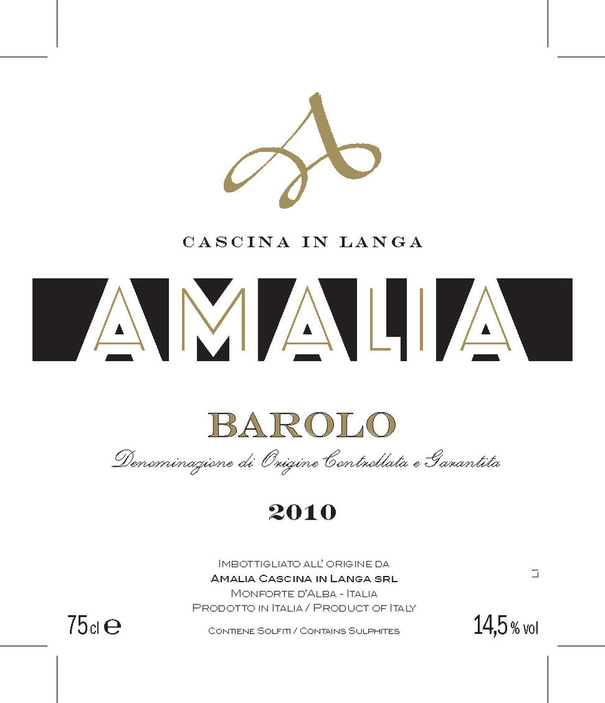Amalia Barolo 2010 - only 3 bottles left!