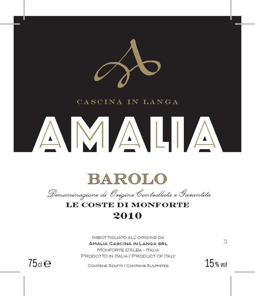 Amalia Barolo Le Coste di Monforte 2012 - only 1 bottle left!