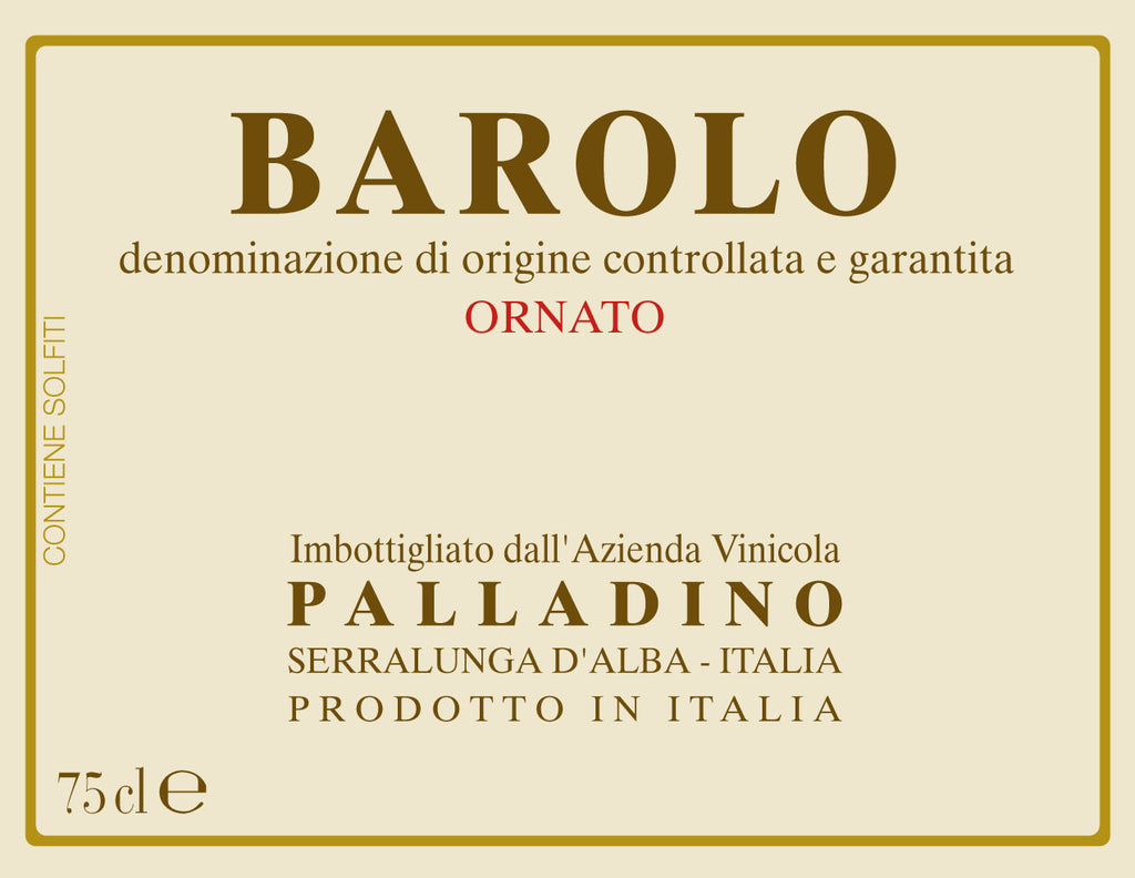 Palladino Barolo Ornato 2011 - only 1 bottle left!
