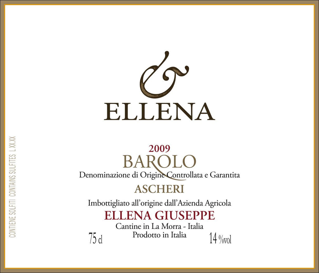 Ellena Barolo Ascheri 2011 - Only 1 bottle left!