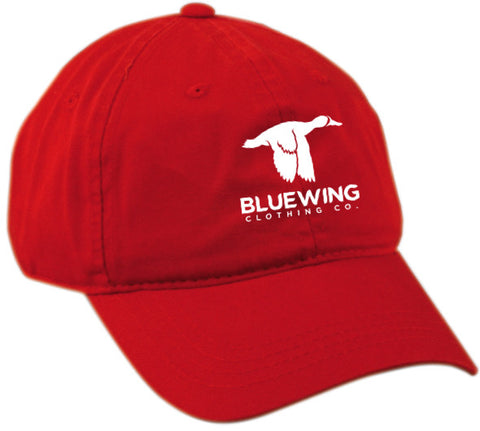 Blue Wing Classic Ball Cap BW Logo- Red