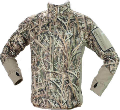 Waterfowl Smooth Fleece Pullover Mossy Oak Shadow Grass Blades