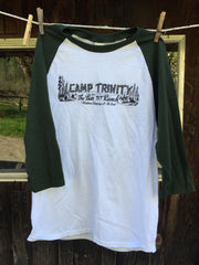 Poly/Cotton Baseball Tee with Old Camp Banner