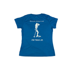 Land Paddle Life Tee Blue Wake Heather - Women