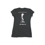 Land Paddle Life Tee Heathered Charcoal - Women