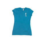 Land Paddle Life Tee Turquoise Frost - Women