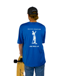 Land Paddle Life Tee Blue Wake Heather - Men