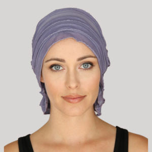 MARY CHEMO BEANIE - Orchid Ruffle