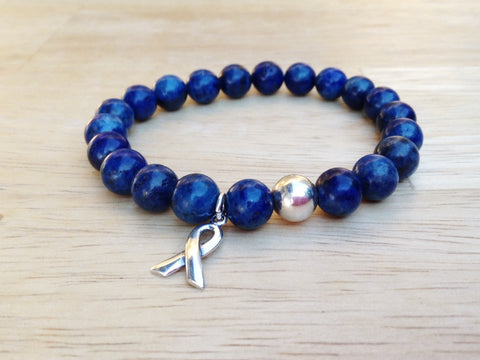 Navy Colon Cancer Awareness Bracelet