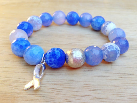 Periwinkle Stomach Cancer Awareness Bracelet
