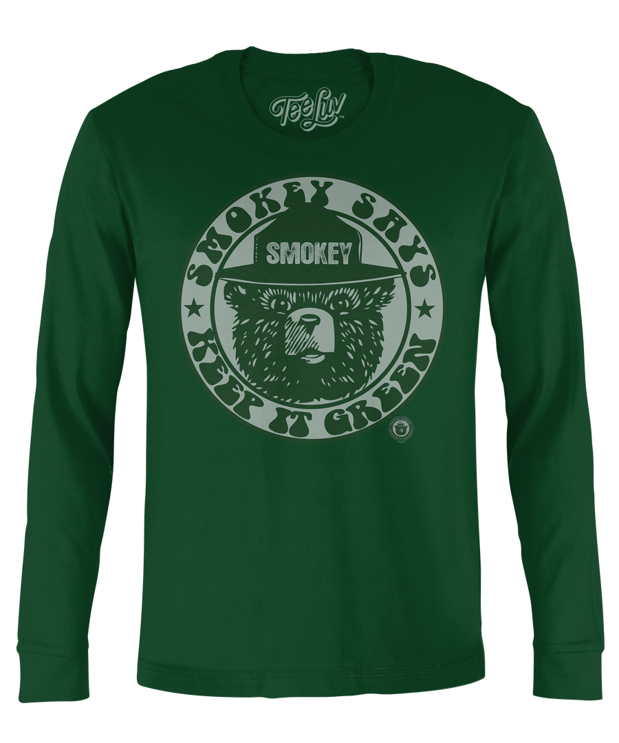 "Smokey ""Keep It Green"" Long Sleeve T-Shirt - Green"