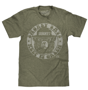 Tee Luv Smokey Bear T-Shirt - Keep It Green Retro Smokey Bear Shirt