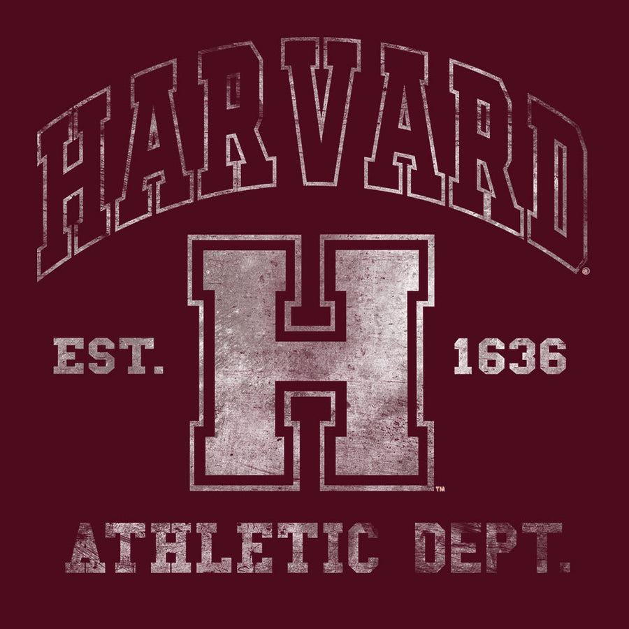 Harvard Athletic Department Pullover Hooded Sweashirt - Crimson