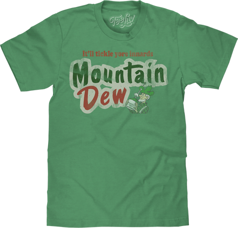 Mountain Dew Tickle Yore Innards | Big and Tall Tee